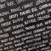 Food Menu Blackboard