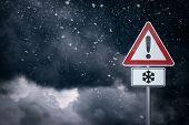 Caution - Snow
