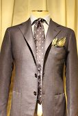 Elegant gray suit