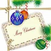 Background For Christmas Greetings Invitation Or Gift
