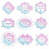 Modern hipster logo set