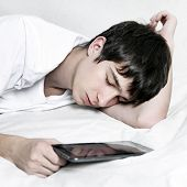 Teenager Sleep With Tablet