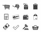 Silhouette Online shop icons