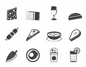 Silhouette Shop, food and drink icons 2