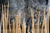 Burning Incense Sticks
