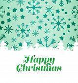 Happy christmas against snowflake pattern