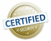 An image of a useful security certified button