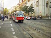 Tram 22 In Prague
