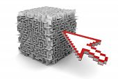 cube maze and Cursor (clipping path included)