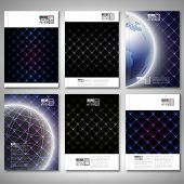 Abstract neon light black textures. Brochure, flyer or report for business, template vector