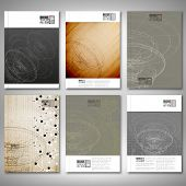 Conceptual design, technology background vector. Brochure, flyer or report for business, template ve