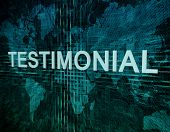 Testimonial Technology Background