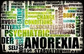 stock photo of anorexia nervosa  - Anorexia Nervosa Eating Disorder as a Concept - JPG