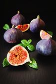 Figs And Mint Leaves
