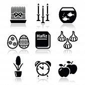 Nowruz - Persian New Year icons set