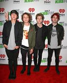 LOS ANGELES - DEC 5:  5 Seconds of Summer at the KIIS FM's Jingle Ball 2014 at the Staples Center on December 5, 2014 in Los Angeles, CA