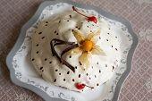 Yoghurt Cake With Chocolate And Cherries