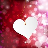 Happy Valentine's Day.  Greeting Card On Red Background