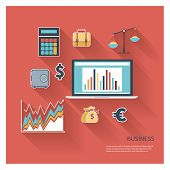Business Icon Flat Vector