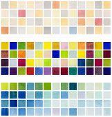 Hand-drawn watercolor pixel pattern banner