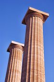 columns on the acropolis