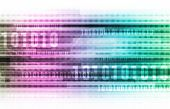 Abstract Information Background with Binary Code Art