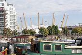 London docklands millennium dome uk