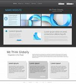 Template for modern website, easy editable