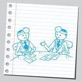 Doctors in meeting room talking