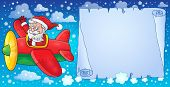 Santa Claus in plane theme image 8 - eps10 vector illustration.