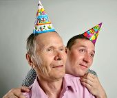 Funny birthday men  making face