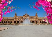 famouse square of Spain in Seville