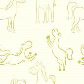 Horses Pattern.