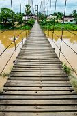 Rope suspension bridge, Thailand