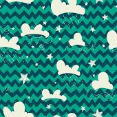 Clouds And Stars Pattern