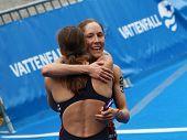 Sarah Groff Hugging Lindsay Jerdonik