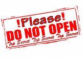 Please Do Not Open