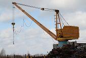 A Crane To Move The Scrap Metal