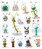 pic of gnats  - Some cartoon insects  - JPG