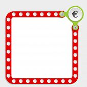 Red Frame For Any Text With Screws And Euro Symbol