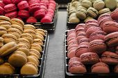 stock photo of french pastry  - Macaroons, traditional French pastry in Paris, France