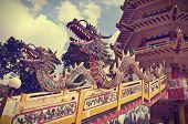 Colorful Of Dragon Statue,  Palembang, Indinesia