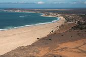 Aerial View On Sand Dunes In Chaves Beach Praia De Chaves In Boavista Cape Verde - Cabo Verde
