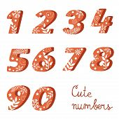 Elegant  colorful numbers collection