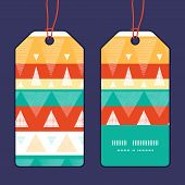 Vector vibrant stripes vertical stripe frame pattern tags set