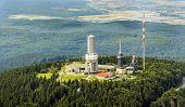 Top Of Feldberg In Hesse With Tv Tower