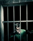 Superhero Locked In Prison