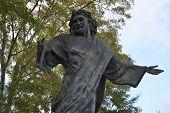 Statue - Savior in a cemetery