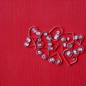 Hearts Of  Paper Quilling  For Valentine's Day