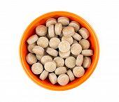 Orange Herbal Multi-vitamin Pill Tablets Against White